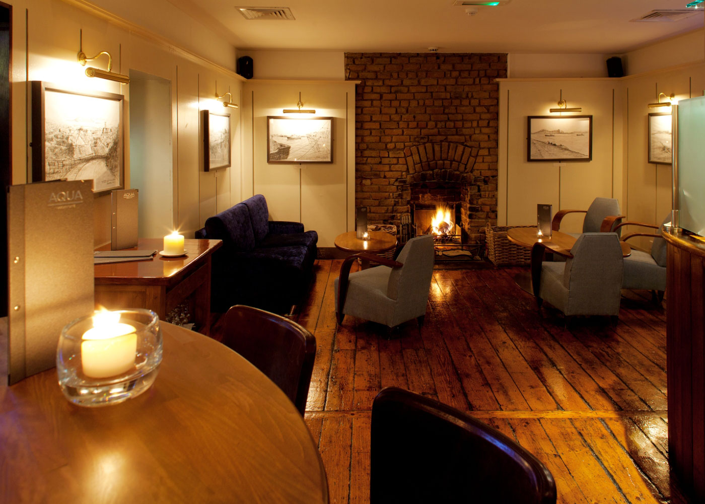 Enjoy a pre or post dinner drink in our cosy bar