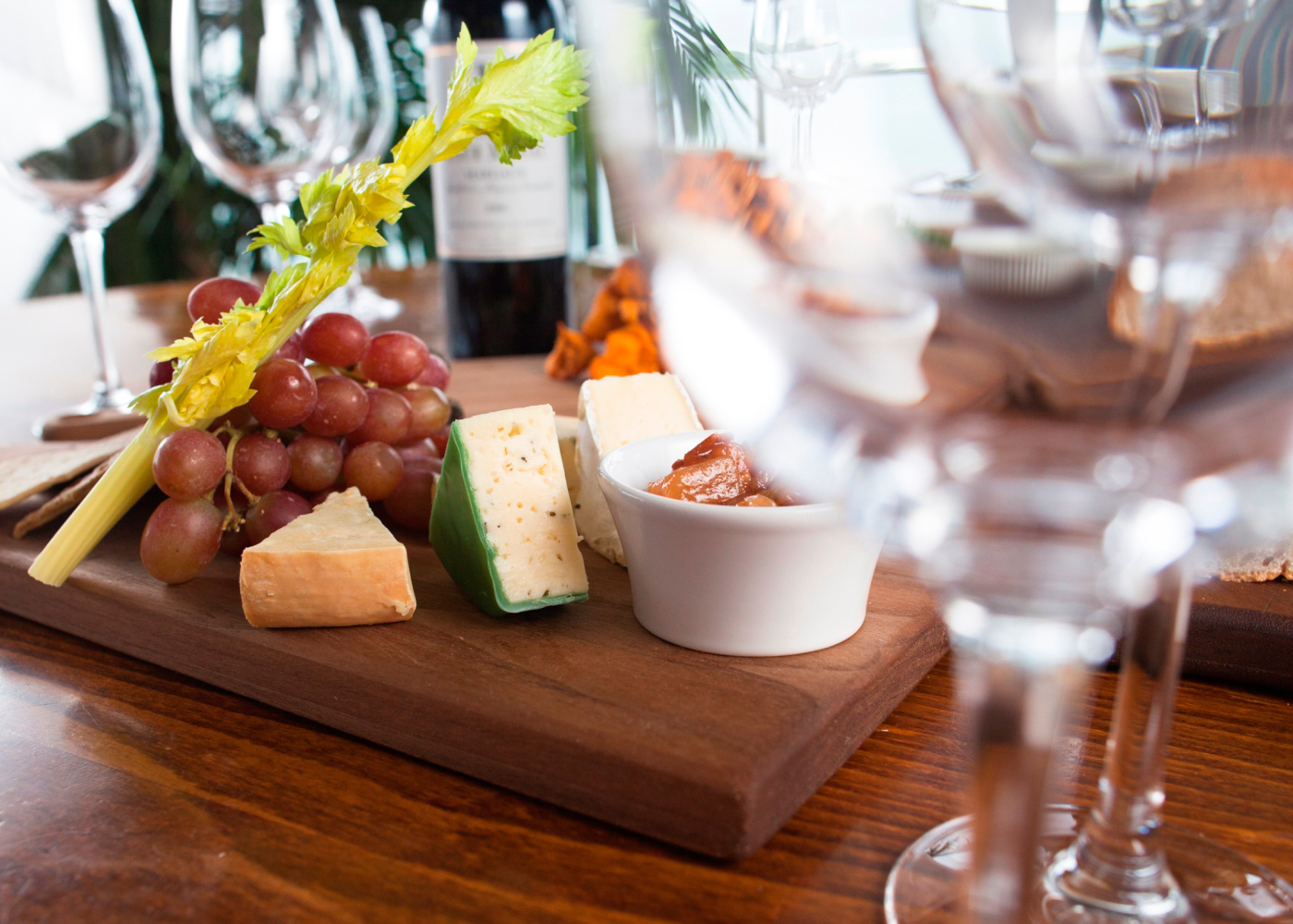 Cheese board with selection of Continental and Irish Cheeses