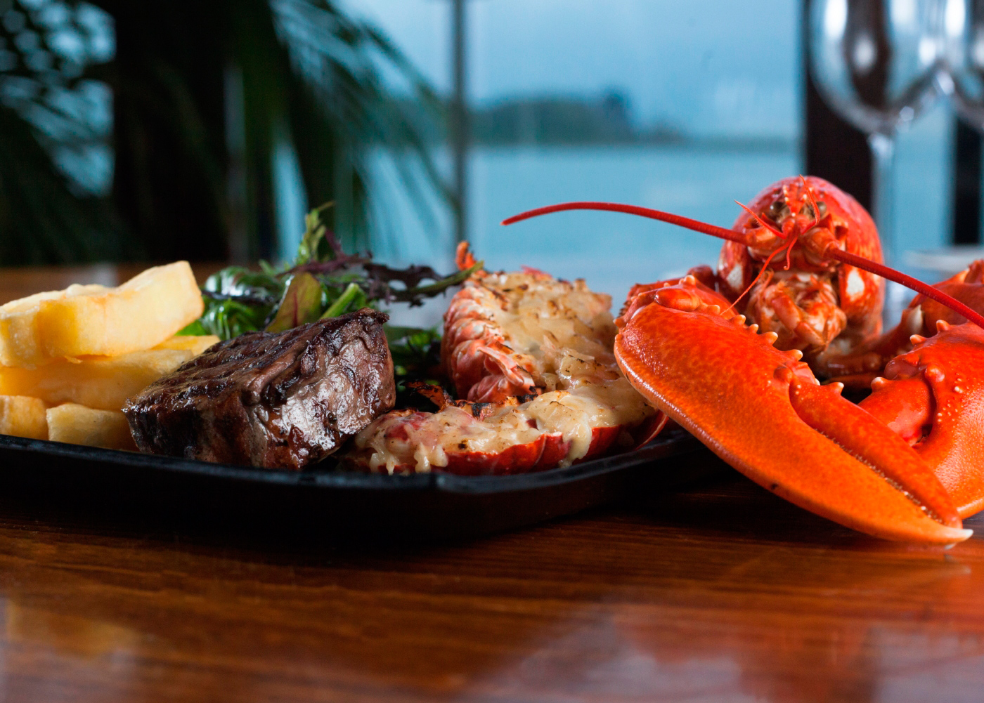 Our famous Surf and Turf (Lobster is subject to availability)