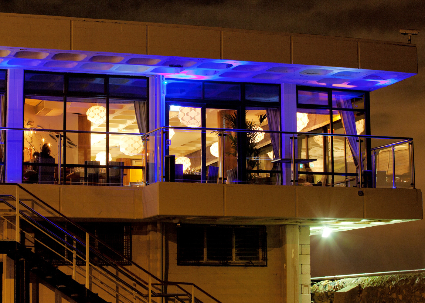 Aqua is a first floor restaurant with stunning views