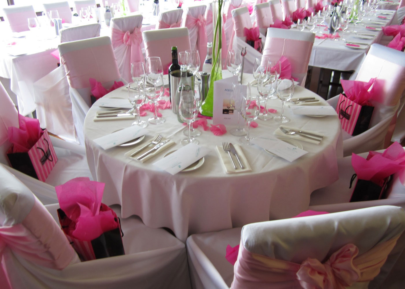 Table layout is dictated by the number of guests expected - capacity of 100 seated