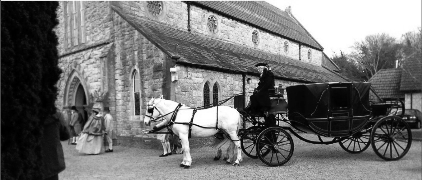 Wedding Carriage Howth, old fashioned romance…