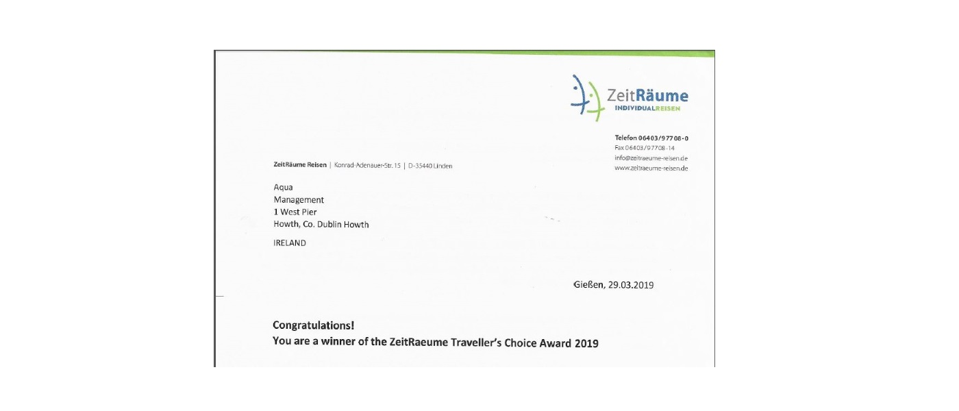 ZeitRaeume Travellers Choice Award 2019